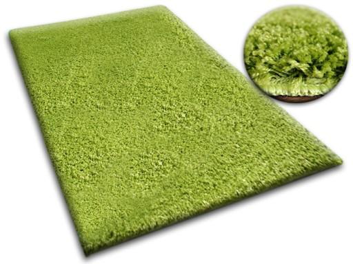 DYWAN SHAGGY 5cm zielony 80x120 pluszowy @10264