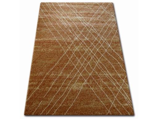 Dywany łuszczów Shadow 140x190 Paski Złoty At1057