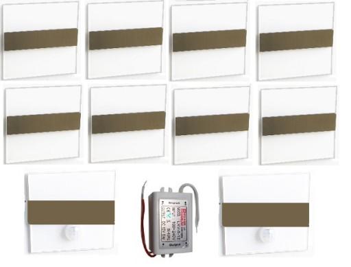 Oświetlenie Schodowe Led 12v 60fi Komplet Czujnik