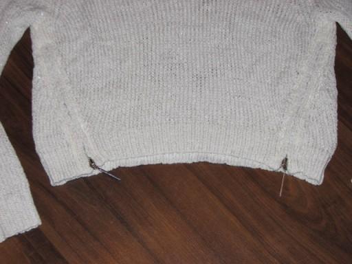 WYPRZEDAŻ  ORSAY cudny sweterek zameczki 36 S