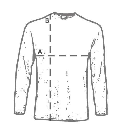 NAJGRUBSZY Longsleeve FRUIT OF THE LOOM white XXL 7782602076 Odzież Męska Koszulki z długim rękawem YI NOIGYI-8
