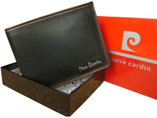 d671e3b831215 Skórzany portfel męski PIERRE CARDIN skóra LOGO 7495450473 - Allegro.pl