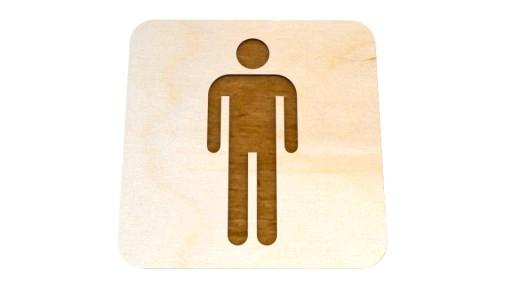Tabliczka Toaleta Męska Wc Męski Znaczek Na Drzwi 7875796262 Allegro Pl