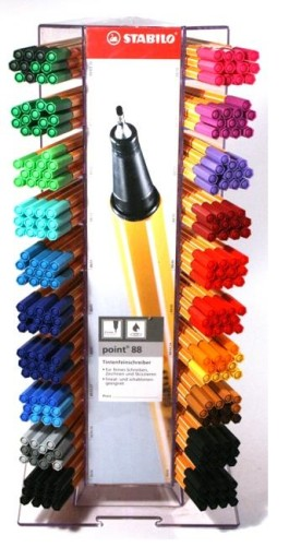 Cienkopis Stabilo Point 88 Zestaw kolorów + GRATIS