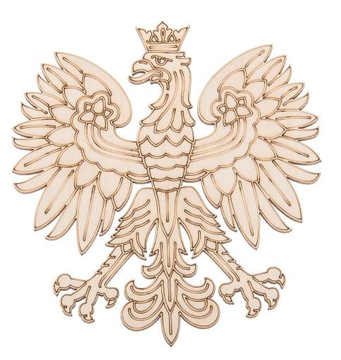 ORZEŁ orzełek GODŁO sklejka POLSKA dekor DECOUPAGE