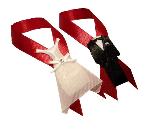 Zawieszki  wódkę alkohol etykiety suknia garnitur