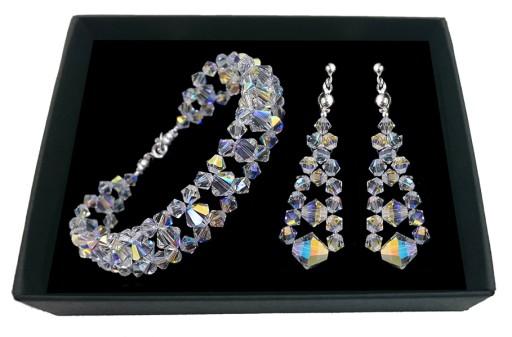 b0854e406b8804 Biżuteria ślubna z kryształów SWAROVSKI 1974 6832511957 - Allegro.pl