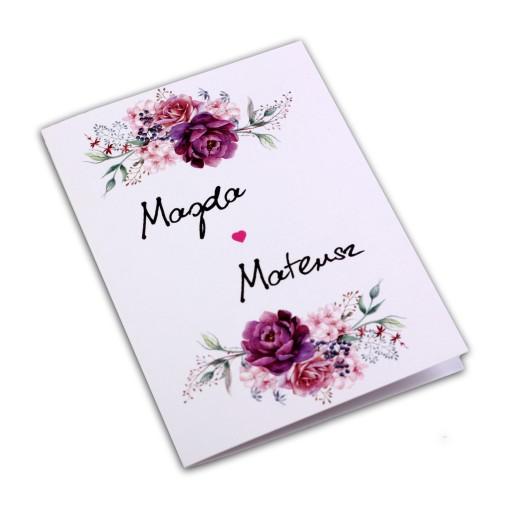 Zaproszenia ślubne Rustykalne Kwiatowe Boho A5 7232308872