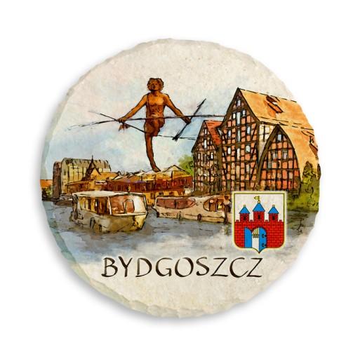 61466682b3868 Magnes na lodówkę kamień 7 cm BYDGOSZCZ 141 M 7082956468 - Allegro.pl