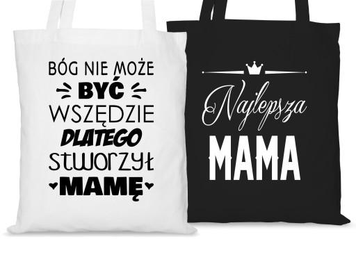 bbde2e5b59ae1 TORBA BAWEŁNIANA DLA MAMY NA DZIEŃ MATKI PREZENT 7310611685 - Allegro.pl