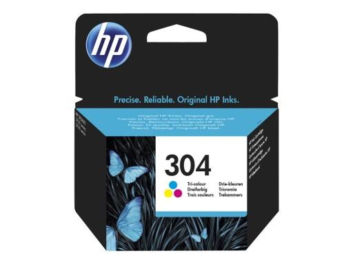 HP Tusz 304 Tri-color oryginalny N9K05AE