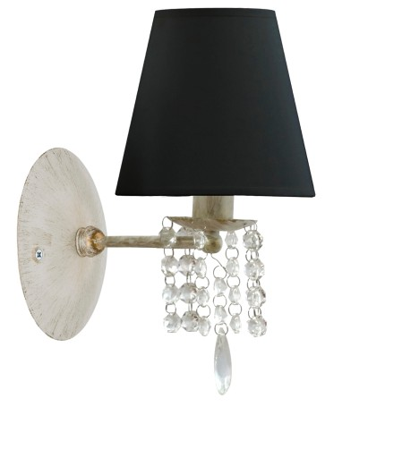 KINKIET LAMPA ŚCIENNA,ŻYRANDOL, KRYSZTAŁKI ABAŻUR