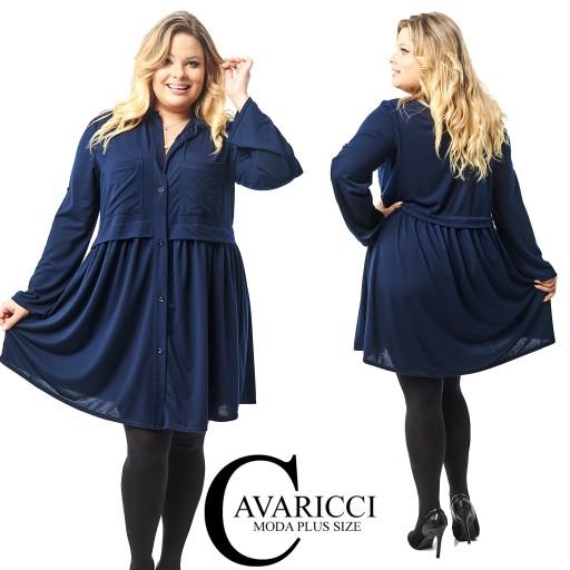 5027ed0ecf CAVARICCI PLUS SIZE suknia ZARKA S-62 XXL XXXL 7577459614 - Allegro.pl