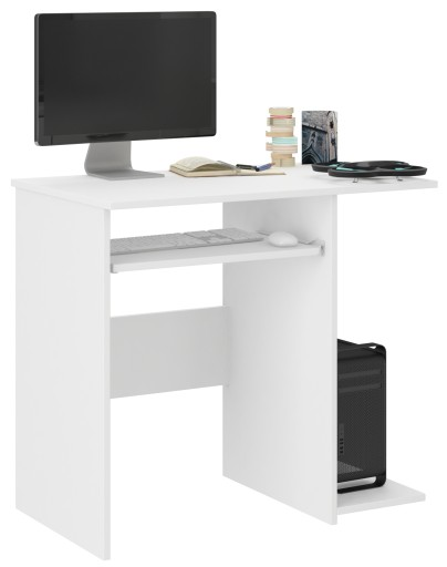 Biurko Komputerowe 80cm Stolik Laptop Białe N 5