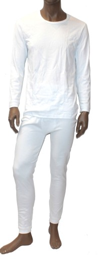 098* WADIMA podkoszulek bawełna dł.rękaw XXL biały