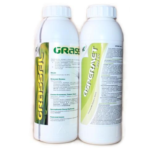 ASPERMET +GRASSFIL oprysk na KLESZCZE komary MUCHY