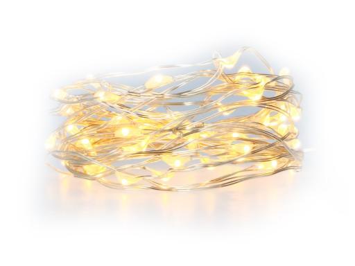 LAMPKI DRUCIKI LED 50 MIKRO CHOINKOWE BATERIE 5m