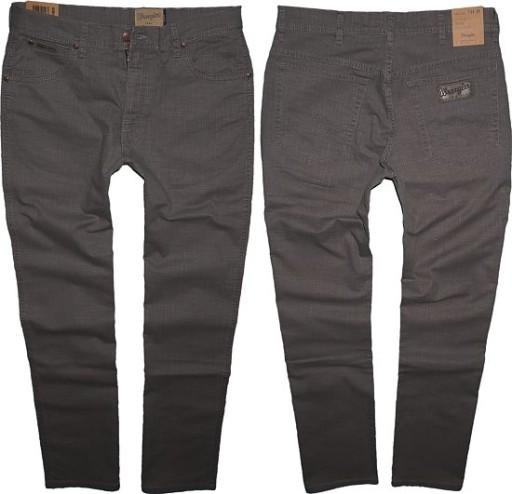 WRANGLER TEXAS spodnie klasyczne szare W31 L32 7249760818 Odzież Męska Spodnie II CCDAII-7
