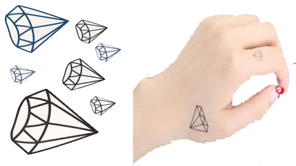 Tatuaż Tymczasowy Zmywalny Diament Diamond Brylant 7343967497