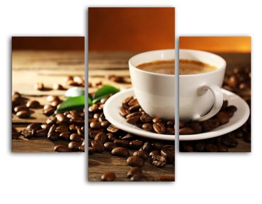 Kawa Filiżanka Obraz Do Kuchni 80x60cm Tryptyk