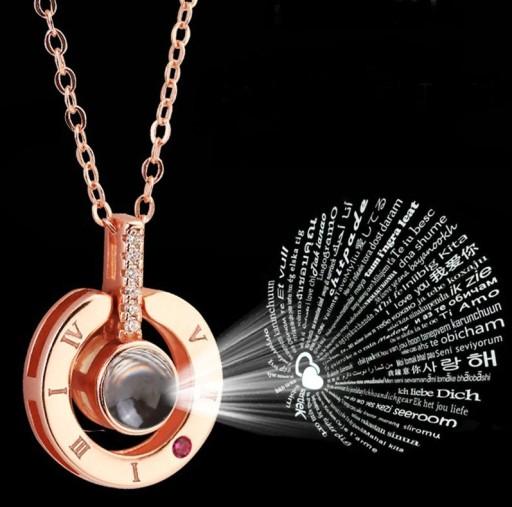 Naszyjnik Walentynki Serce Projekcja Kobiet Love 7769738162 Allegro Pl