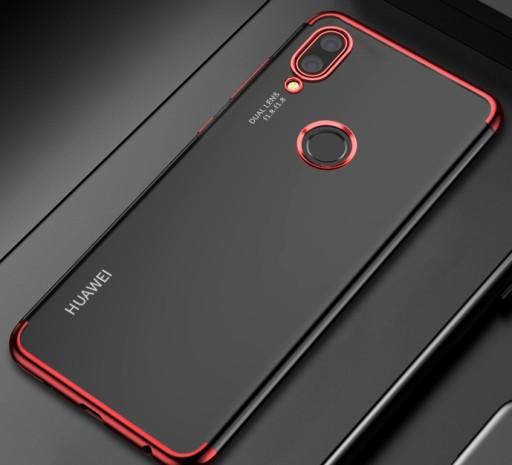 Etui Silikonowe ELEGANCE +SZKŁO do Huawei P20 Lite