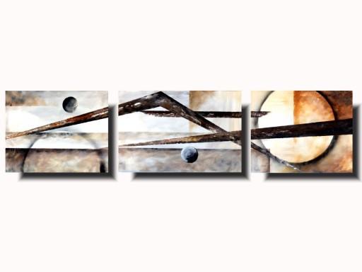 ABSTRAKCJA geometryczny OBRAZ malowany na płótnie