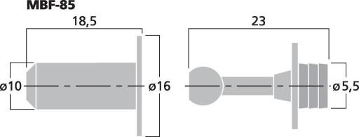 Kołki do osłon, zaczepy maskownic MONACOR MBF-85