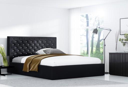 Golden 7 łóżko Tapicerowane Z Kryształkami 200