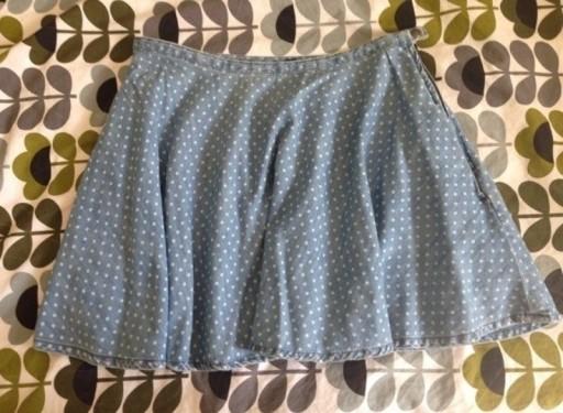 Spódnica rozkloszowana jeansowa kropki Denim Co 42