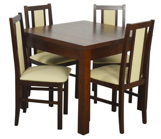 Zestaw Stół 90x90290 Cm 4 Krzesła Do Kuchni 7572274533 Allegro