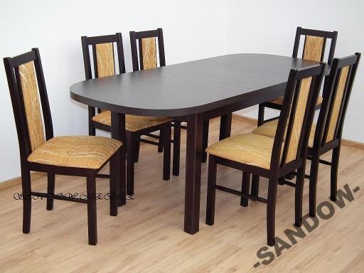 Stół klasyczny z 6 krzesłami do kuchni