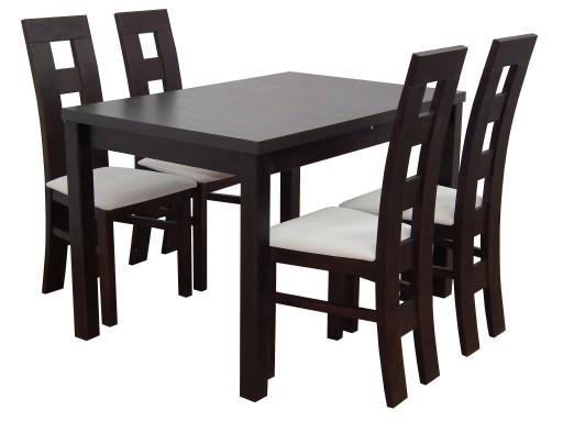 Stół 4 Krzesła Zestaw Do Jadalni Salonu