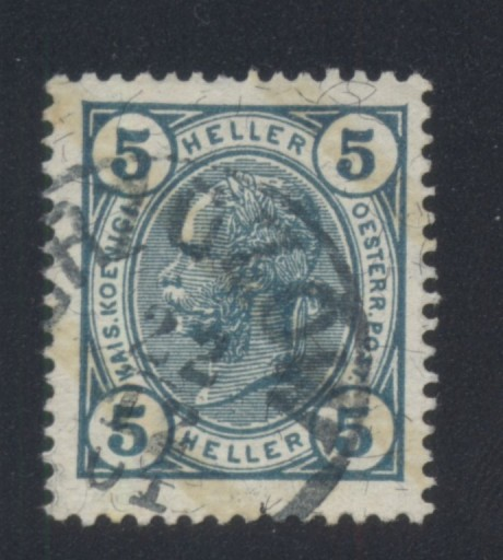 AUSTRIA Mi. 108 KASOWANY (BRZOZÓW)