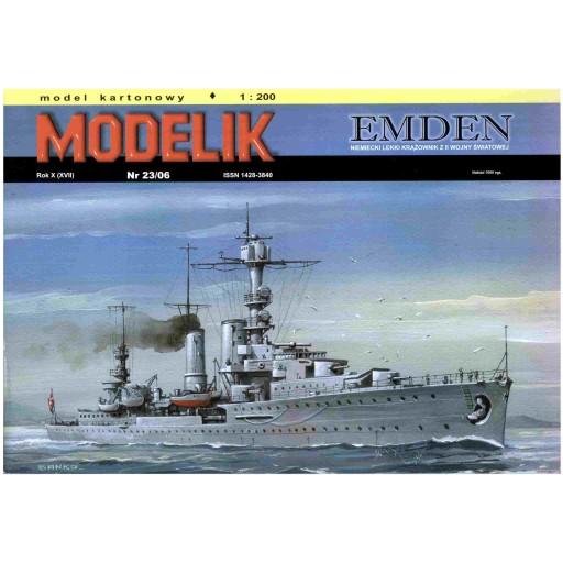 Modelik 23/06 Niemiecki krążownik EMDEN 1:200