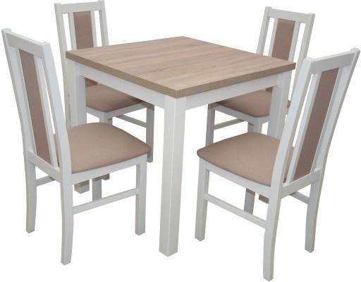 Kwadratowy Stół 4 Krzesła Zestaw Do Kuchni