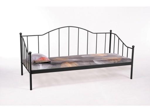 łóżko 90x200 Metalowe Czarne Kute Stelaż Gratis