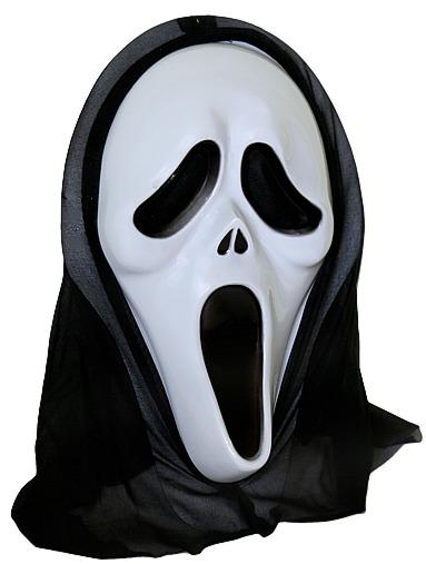 MASKA KRZYK z Kapturem MASKI Scream HALLOWEEN B