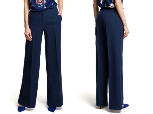 eleganckie SPODNIE damskie SZEROKIE nogawki 42 XL