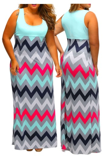 Sukienka Plazowa Letnia W Pasy Plus Size 44 2xl 9467292414 Allegro Pl