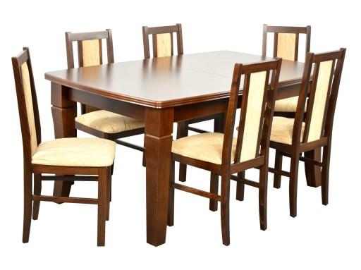 Zestaw 6 Krzeseł Duży Stół Rozkładany Do 4m 6961354526 Allegropl