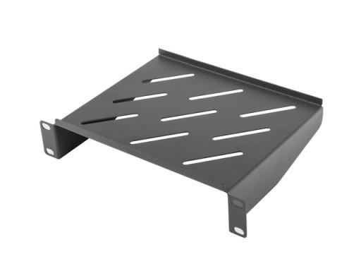 "Półka rack 10"" Lanberg 1U 180mm - czarna"