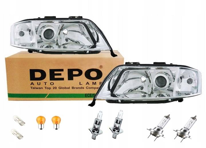 depo фары фары + лампочки audi a6 c5 97-01