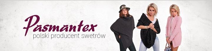 PASMANTEX MARSALA ELEGANCKI WYJĄTKOWY SWETER 7087230328 Odzież Damska Swetry BU CFLQBU-5