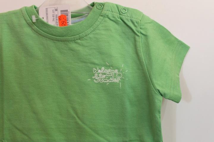 ZARA t-shirt koszulka ZIELONA 12-18 m-cy 80 cm 9101007272 Dziecięce Odzież EF JZGGEF-7