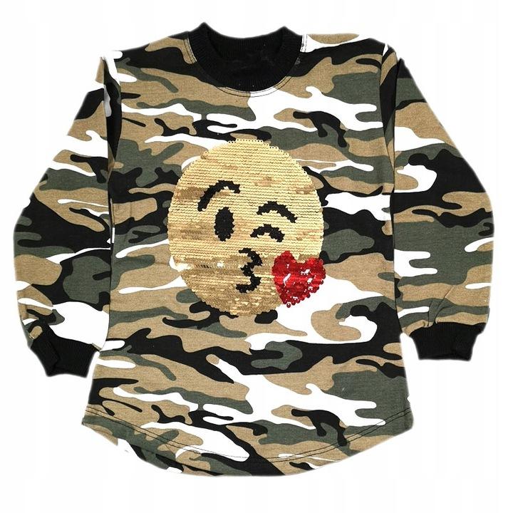 Bluzka Bluza Tunika z cekinami 110 cm 7690061143 Dziecięce Odzież PD KBLDPD-2