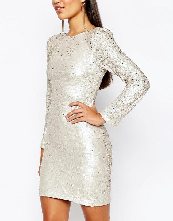 CLUB L mini cekinowa sukienka XS 34 7494379687 Odzież Damska Sukienki wieczorowe PX RJGYPX-6