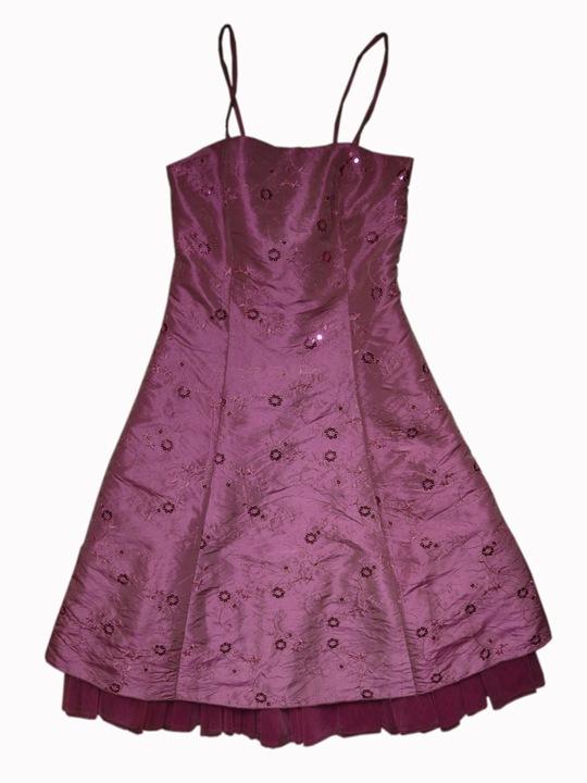 Śliczna sukienka na wesele studniÓwkę rÓżowa 36 S 9781288791 Odzież Damska Sukienki wieczorowe XV EJOGXV-5